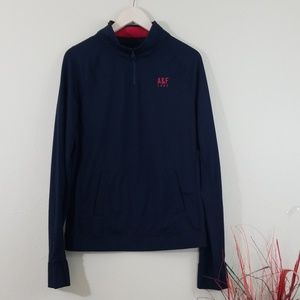 Abercrombie & Fitch Black Pullover Zip-Up Sweater